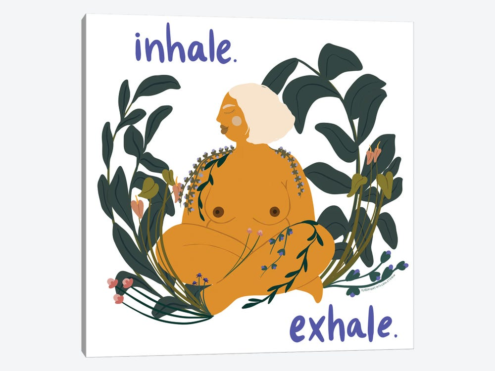 Inhale / Exhale by Harmony Willow 1-piece Canvas Art Print