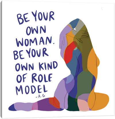 Be Your Own Woman Canvas Art Print