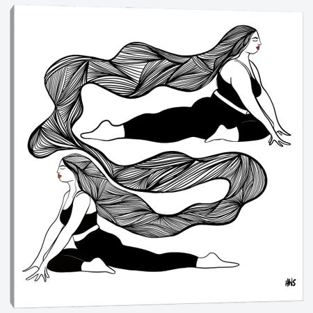 Lines Canvas Print #HYW30} by Harmony Willow Art Print