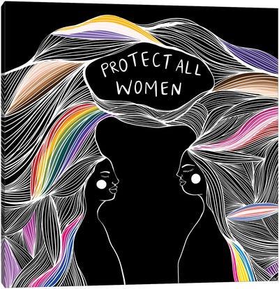 Protect All Women Canvas Art Print