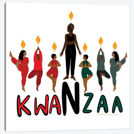 Kwanzaa Canvas Print #HYW36} by Harmony Willow Canvas Artwork