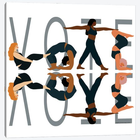Vote Reflection Canvas Print #HYW41} by Harmony Willow Canvas Wall Art