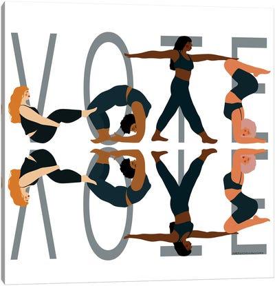 Vote Reflection Canvas Art Print