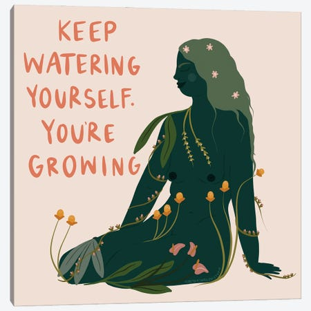 Keep Growing Canvas Print #HYW43} by Harmony Willow Canvas Artwork