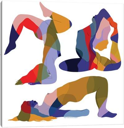 Rainbow Trio Canvas Art Print