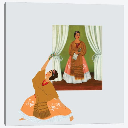 Frida Kahlo Canvas Print #HYW48} by Harmony Willow Canvas Artwork