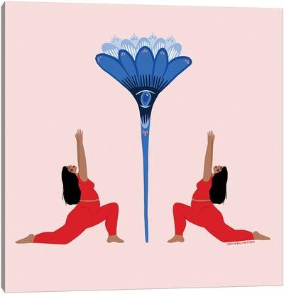 Flower Mirror Canvas Art Print