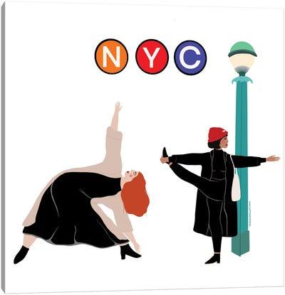 NYC Yogi's Canvas Art Print