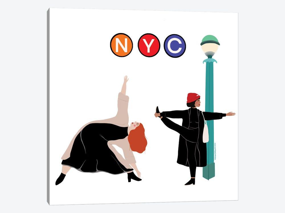 NYC Yogi's by Harmony Willow 1-piece Canvas Print