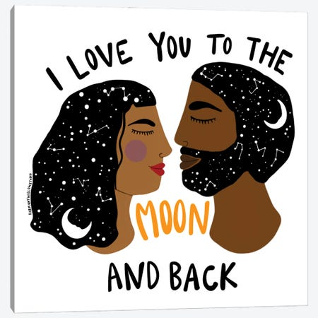 I Love You Canvas Print #HYW7} by Harmony Willow Canvas Art