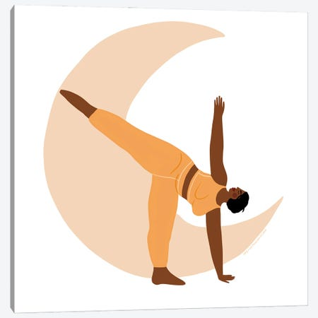 Half Moon Pose Canvas Print #HYW8} by Harmony Willow Canvas Print