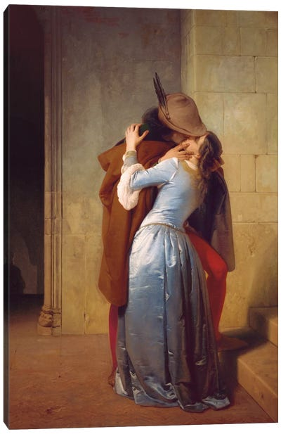 Il Bacio Canvas Art Print