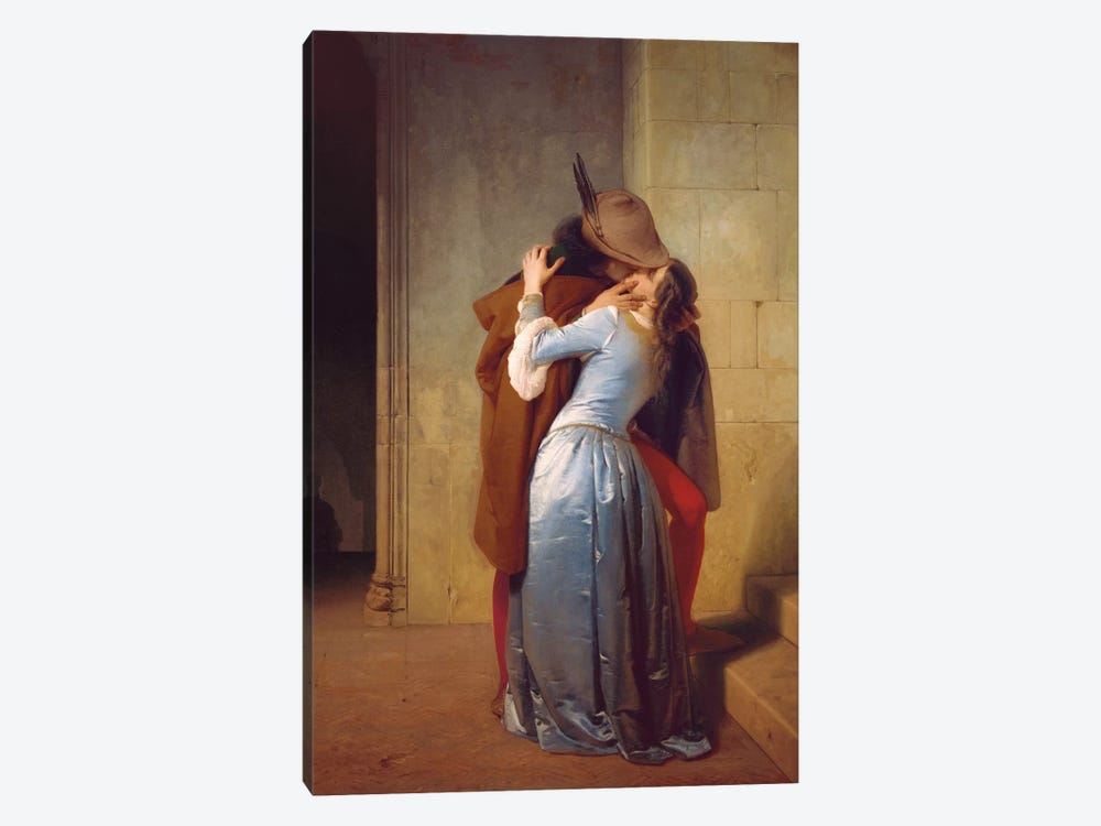 Il Bacio by Francesco Hayez 1-piece Canvas Art