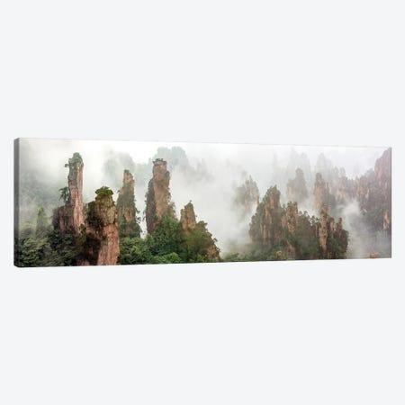 Cloud-Shrouded Zhangjiajie Canvas Print #HZH11} by Hua Zhu Canvas Artwork
