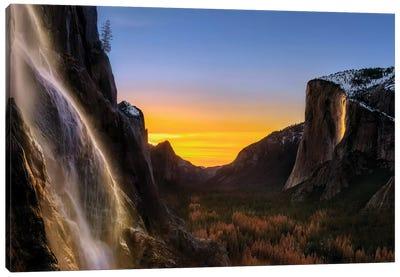 Double Waterfalls Canvas Art Print