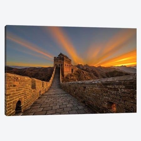 Great Wall Sunrise Canvas Print #HZH15} by Hua Zhu Canvas Print