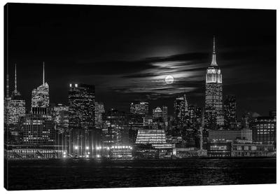 Manhattan At Night Canvas Art Print