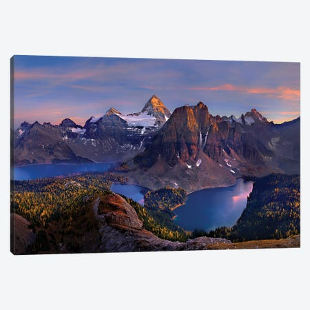 Mount Assiniboine Canvas Print #HZH20} by Hua Zhu Canvas Art Print