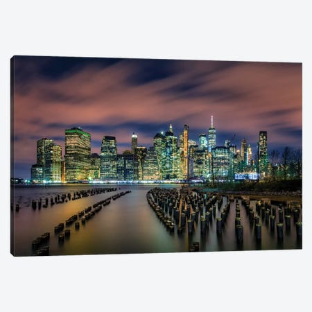 Old Pier 1 3-Piece Canvas #HZH22} by Hua Zhu Canvas Art Print