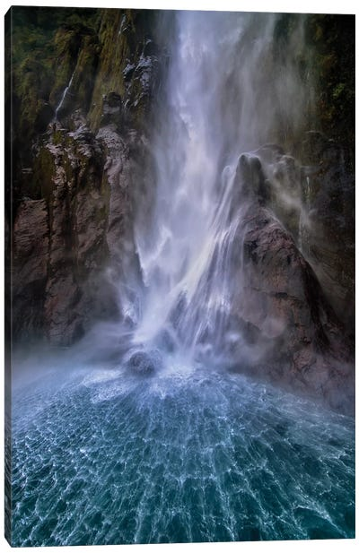 Stirling Falls Along Milford Sound Canvas Art Print