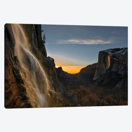 Yosemite Firefall Canvas Print #HZH26} by Hua Zhu Canvas Artwork