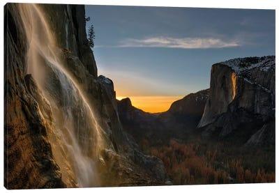 Yosemite Firefall Canvas Art Print