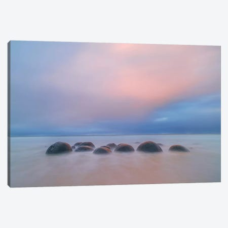 Moeraki Boulders Canvas Print #HZH2} by Hua Zhu Canvas Wall Art