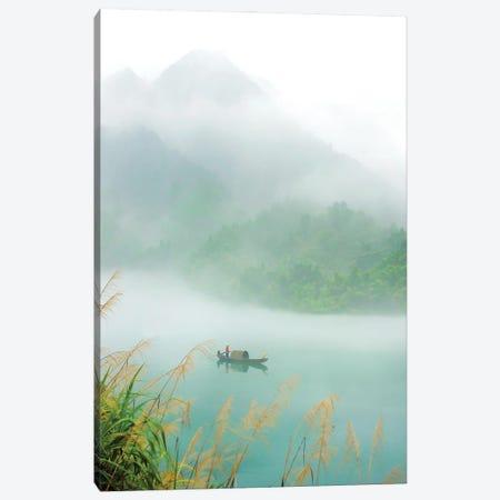 Fog Sprinkle The East River Canvas Print #HZH32} by Hua Zhu Canvas Artwork