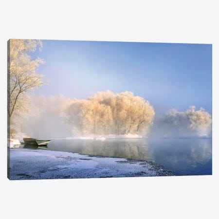 Morning Fog And Rime In Kuerbin Canvas Print #HZH34} by Hua Zhu Canvas Art Print