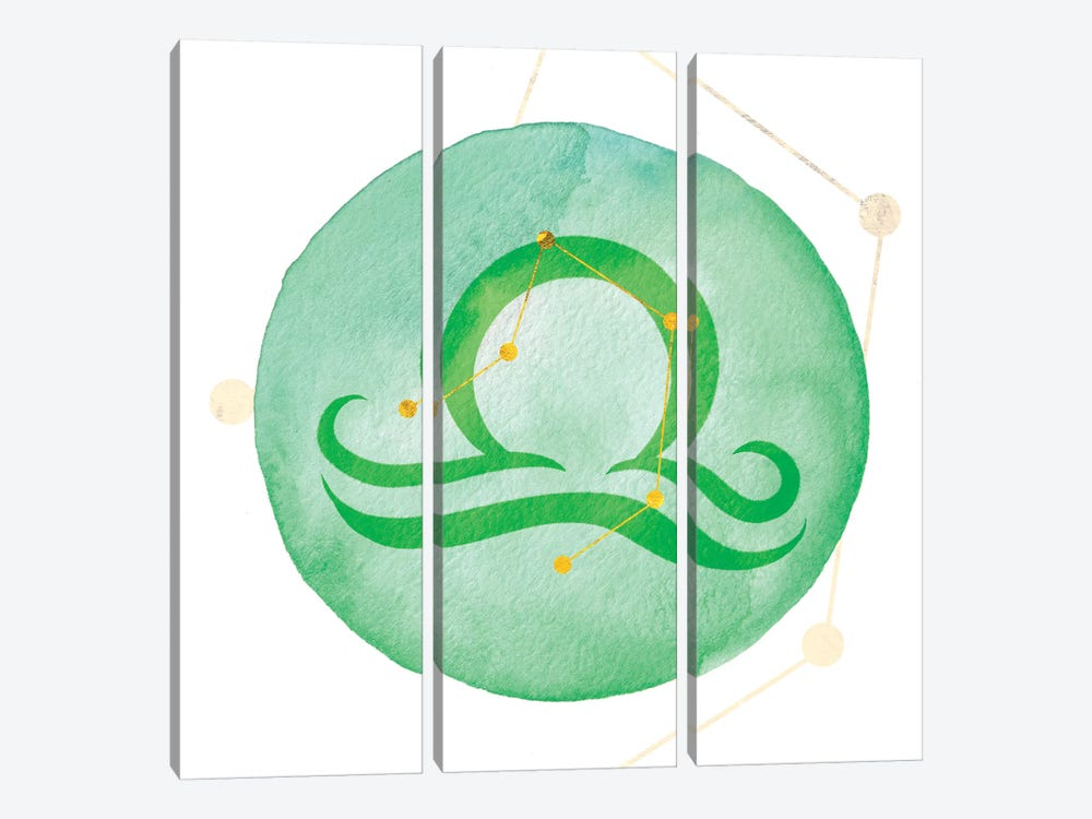 Illumination of Libra with Constellation by 5by5collective 3-piece Canvas Art