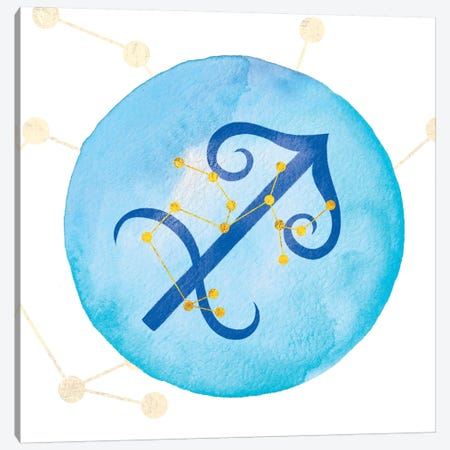 Illumination of Sagittarius with Constellation Canvas Print #IAA17} by 5by5collective Canvas Art