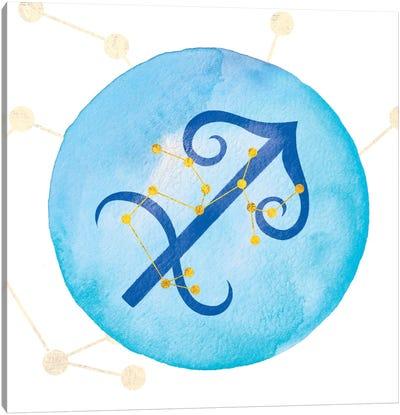 Illumination of Sagittarius with Constellation Canvas Art Print