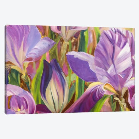 Iris Details I Canvas Print #IAF12} by Sandra Iafrate Canvas Artwork