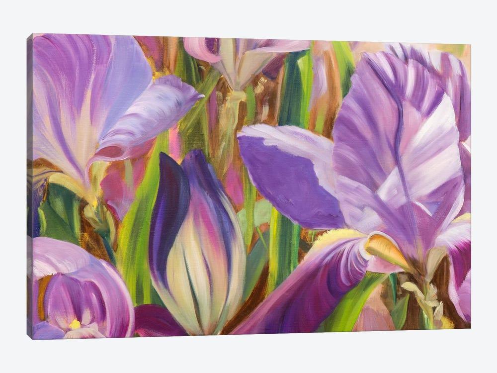 Iris Details I by Sandra Iafrate 1-piece Canvas Wall Art