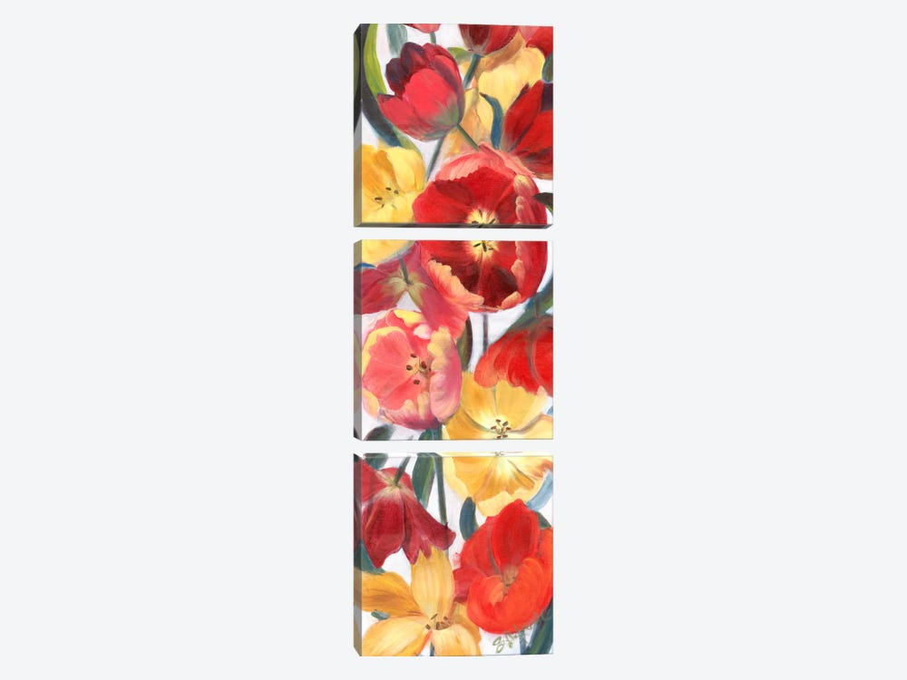 Tulip Array Panel II by Sandra Iafrate 3-piece Canvas Artwork