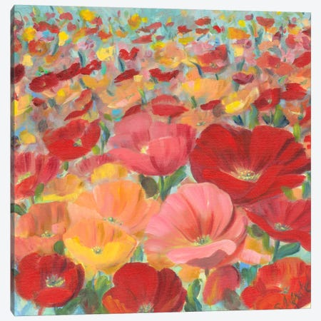 Wild Flower Field I Canvas Print #IAF22} by Sandra Iafrate Canvas Print