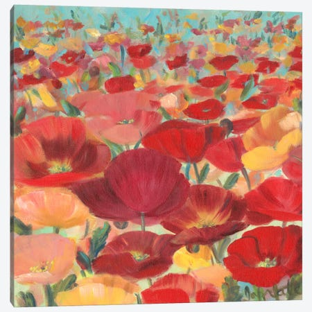 Wild Flower Field II Canvas Print #IAF23} by Sandra Iafrate Canvas Art Print