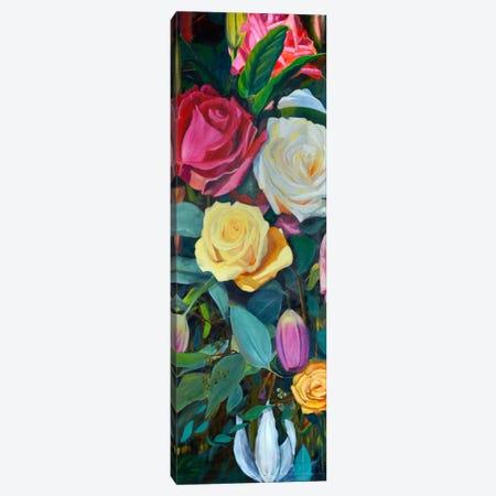 Baroque Flower Triptych Panel II Canvas Print #IAF2} by Sandra Iafrate Canvas Wall Art