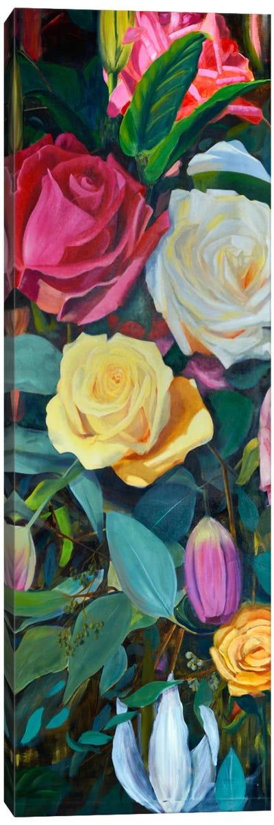 Baroque Flower Triptych Panel II Canvas Art Print