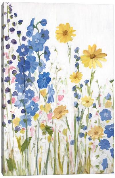 Periwinkle Wildflowers I Canvas Art Print