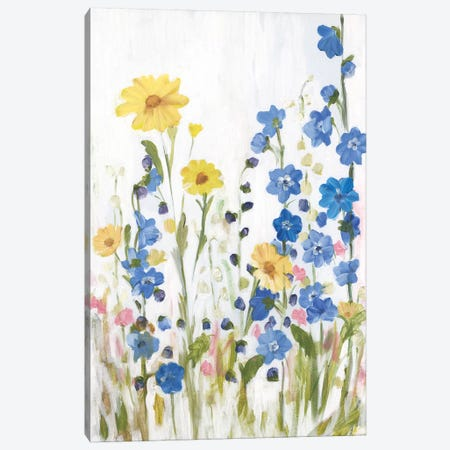 Periwinkle Wildflowers II 3-Piece Canvas #IAF36} by Sandra Iafrate Canvas Art Print