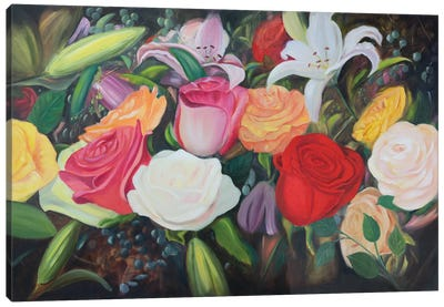 Floral Abundance I Canvas Art Print