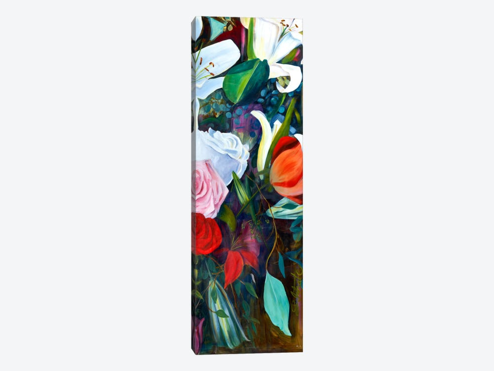 Baroque Flower Triptych Panel III by Sandra Iafrate 1-piece Canvas Art