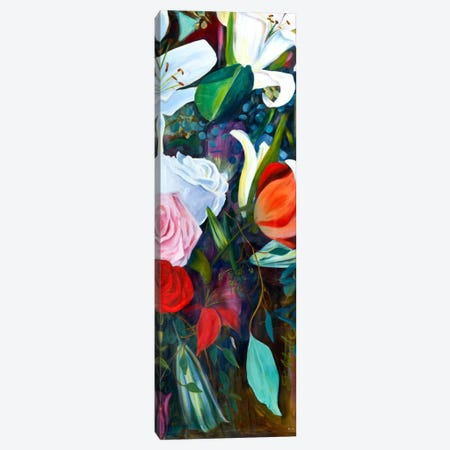 Baroque Flower Triptych Panel III Canvas Print #IAF3} by Sandra Iafrate Canvas Art