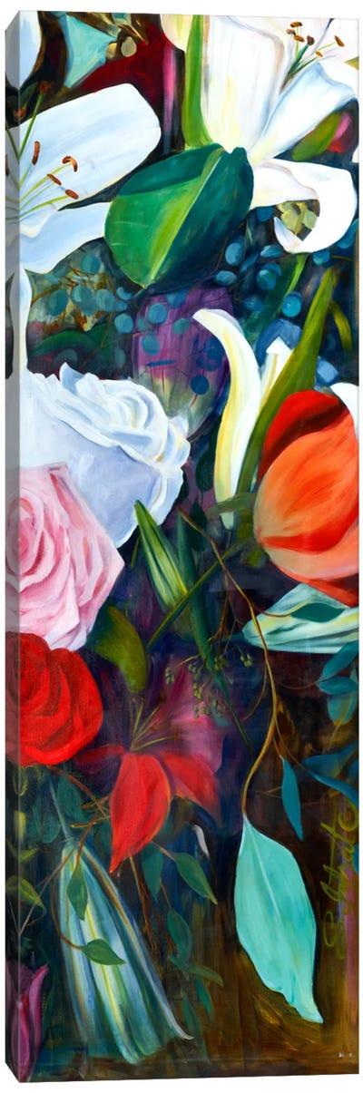 Baroque Flower Triptych Panel III Canvas Art Print