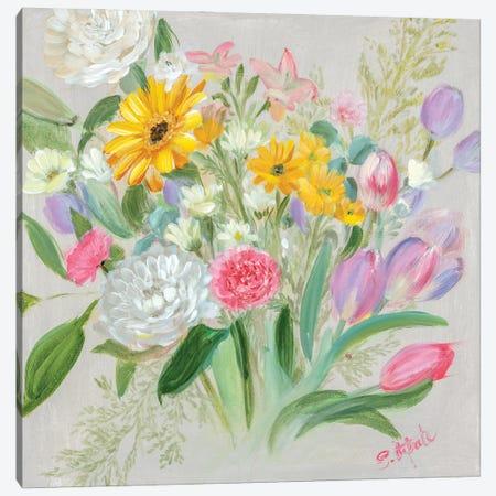 Floral Burst I Canvas Print #IAF41} by Sandra Iafrate Canvas Print