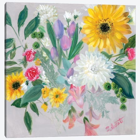 Floral Burst II Canvas Print #IAF42} by Sandra Iafrate Art Print