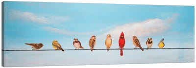 Sweet Birds on a Wire I Canvas Art Print