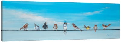 Sweet Birds on a Wire II Canvas Art Print