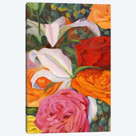 Deconstructed Flower Composition I Canvas Print #IAF6} by Sandra Iafrate Canvas Print